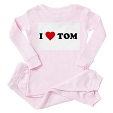I Love [Heart] Tom Toddler Pink Pajamas