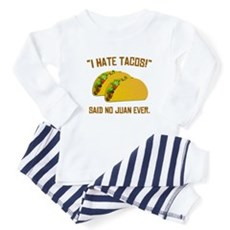 I Hate Tacos Baby Pajamas