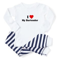 I Love [Heart] My Bartender Baby Pajamas