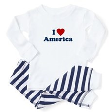 I Love [Heart] America Baby Pajamas