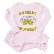 Sunday Funday Toddler Pink Pajamas