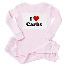 I Love [Heart] Carbs Toddler Pink Pajamas
