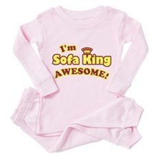 I'm Sofa King Awesome! Toddler Pink Pajamas