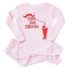 I Drink Your Milkshake Toddler Pink Pajamas