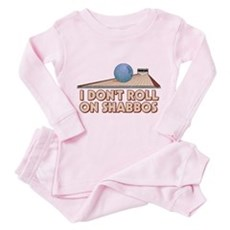 I Dont Roll on Shabbos Toddler Pink Pajamas