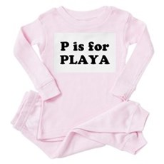 P is for PLAYA Toddler Pink Pajamas