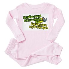 Chewing gum is really gross Toddler Pink Pajamas