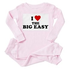 I Love [Heart] the Big Easy Toddler Pink Pajamas