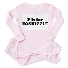 F is FOSHIZZLE Toddler Pink Pajamas