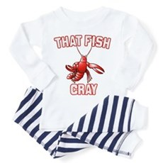 That Fish Cray Toddler Pajamas