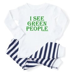 I see green people Toddler Pajamas