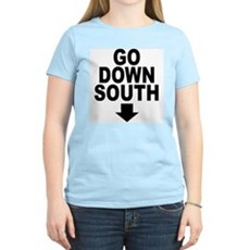 Go Down South ↓ Womens Pink T-Shirt