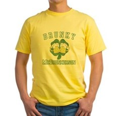 Drunky McDrunkerson Yellow T-Shirt