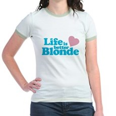 Life is Better Blonde Jr Ringer T-Shirt