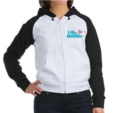 Life is Better Blonde Womens Raglan Hoodie