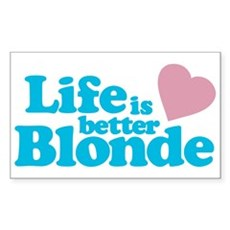 Life is Better Blonde Rectangle Sticker