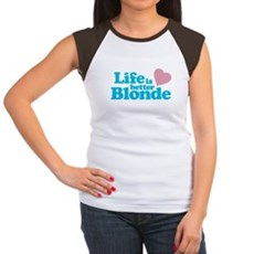 Life is Better Blonde Womens Cap Sleeve T-Shirt