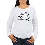 Stylized Swan Women's Long Sleeve T-Shirt
