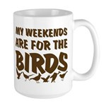 Weekends for the Birds Large Mug