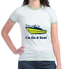 I'm On a Boat Jr Ringer T-Shirt