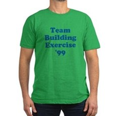 Team Building Exercise '99 Mens Fitted Dark T-Shirt