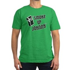 Smoke Up Johnny Mens Fitted Dark T-Shirt