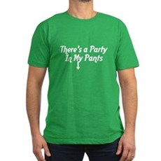There's a Party In My Pants Mens Fitted Dark T-Shirt