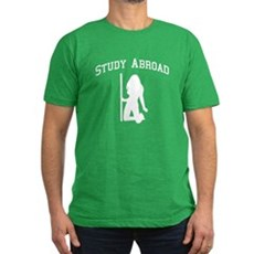 Study Abroad Mens Fitted Dark T-Shirt