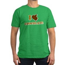 I Love [Heart] Chocolate Mens Fitted Dark T-Shirt