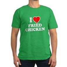 I Love [Heart] Fried Chicken Mens Fitted T-Shirt