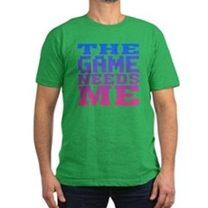The Game Needs Me Mens Fitted Dark T-Shirt