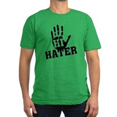 Hi Hater Mens Fitted Dark T-Shirt