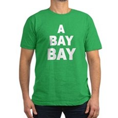 A Bay Bay Mens Fitted Dark T-Shirt