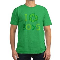 I Recycle Boys Mens Fitted Dark T-Shirt