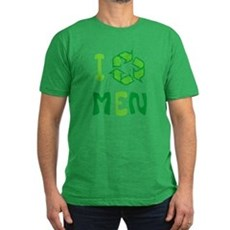 I Recycle Men Mens Fitted Dark T-Shirt