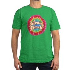 Hippies Smell Mens Fitted Dark T-Shirt