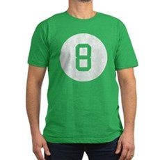 Vintage 8 Ball Mens Fitted Dark T-Shirt