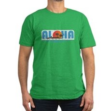 Vintage Aloha Hawaii Mens Fitted Dark T-Shirt