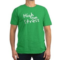 High on Stress Mens Fitted Dark T-Shirt