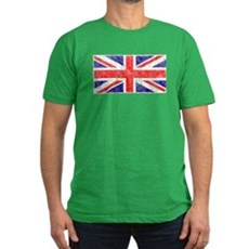 Vintage Union Jack Mens Fitted Dark T-Shirt