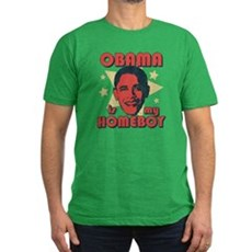 Obama is my Homeboy Mens Fitted Dark T-Shirt