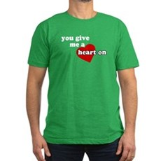 You give me a heart on Mens Fitted Dark T-Shirt