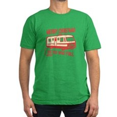 Merry Christmas, Shitter Was Mens Fitted T-Shirt