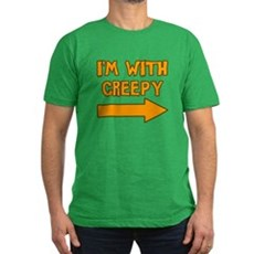 I'm With Creepy Mens Fitted Dark T-Shirt