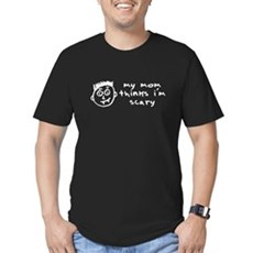 my mom thinks i'm scary Mens Fitted Dark T-Shirt