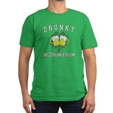 Drunky McDrunkerson Mens Fitted Dark T-Shirt