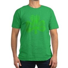 Retro St. Pat's Mens Fitted Dark T-Shirt