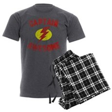 Captain Awesome Mens Charcoal Pajamas