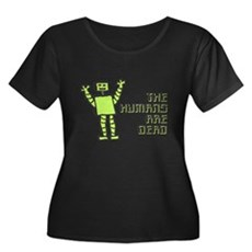 The Humans Are Dead Womens Plus Size Scoop Neck D