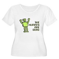 The Humans Are Dead Womens Plus Size Scoop Neck T